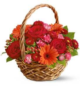 15 Mix Flowers Basket