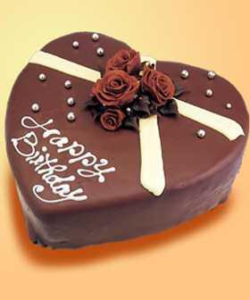 2 KG Heart Shape Chocolate Truffle Cake