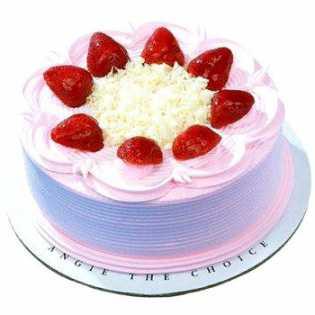 500 Gms Strawberry Cake