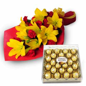 Yellow Lillies, Ferrero Chocolate Box