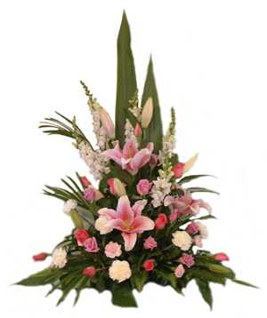 Mix Flowers Classic Basket