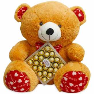 26 Inch Teddy and Ferrero Rocher