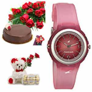 Flowers, Teddy and Ladies Watch