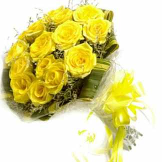 12 Yellow Roses Bunch