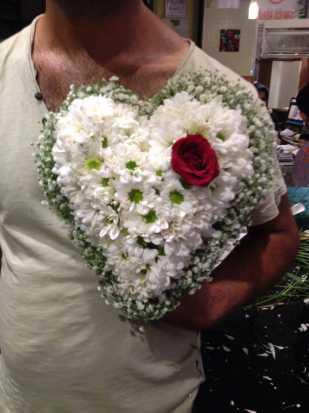daisy flower heart shape basket