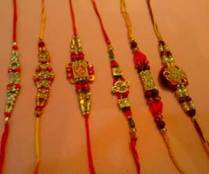Set of 6 rakhis C1891