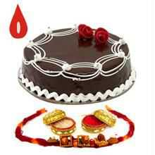 Rakhi With Half Kg Chocolate Cake C1663