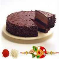 Rakhi With Half Kg Chocolate Truffle Cake C1662