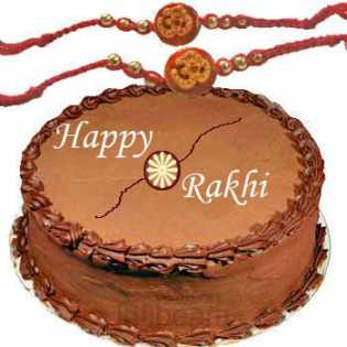 Rakhis with Half Kg Chocolate Cake C1660