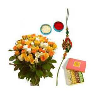 Rakhi Pack with Sweets N Flowers C1127