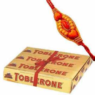 Rakhi Pack with Toblerone Chocolates C1067