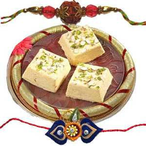 Rakhi with Sone Papdi C1060