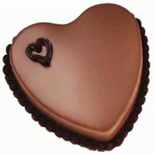 1 KG Heart Shape Chocolate Truffle Cake