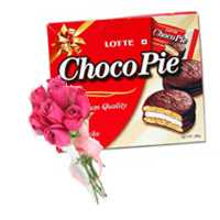 Roses with Chocopie