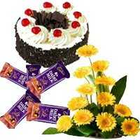 Flowers with Cake and Chocolate