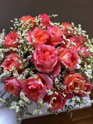 18 Orange Roses Bunch