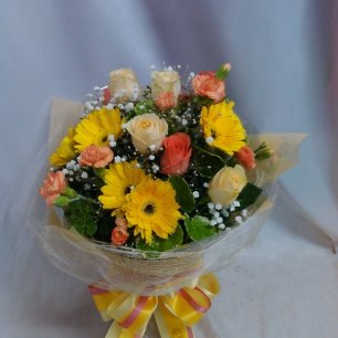 12 Multi Colour Mix Flowers Bunch