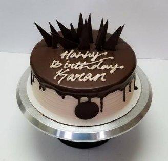 Vanilla Chocolate Half Kg Cake